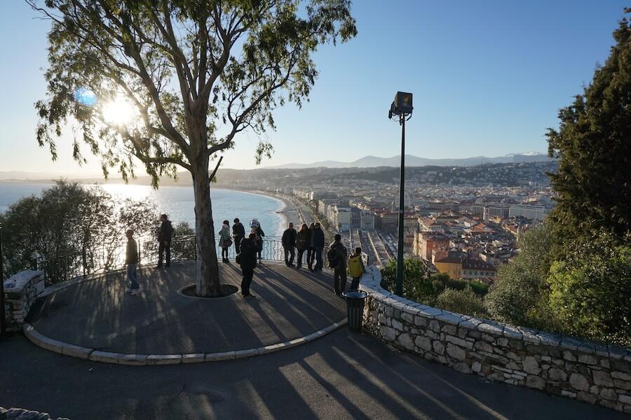 Vista da Colina do Castelo em Nice