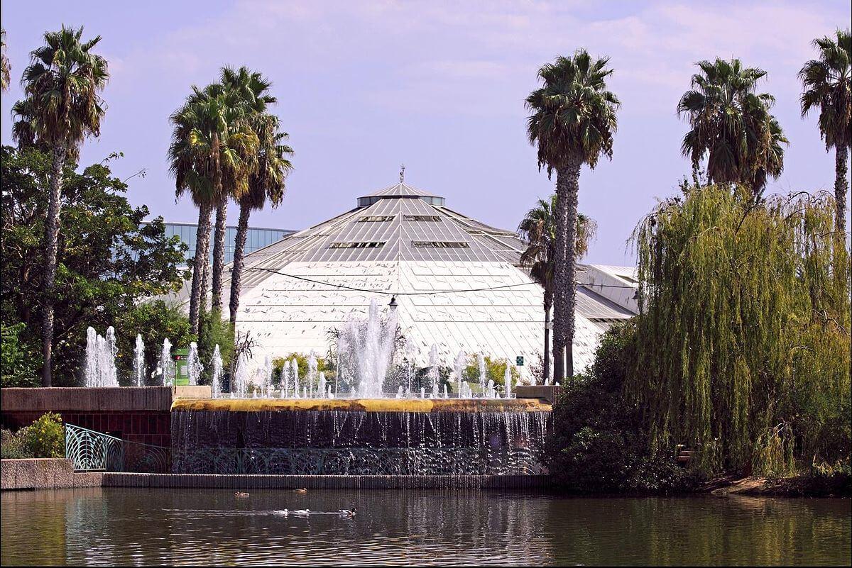 Vista do Phoenix Parc Floral em Nice