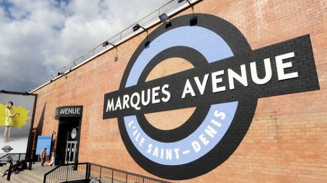 Entrada do Outlet Marques Avenue em Paris