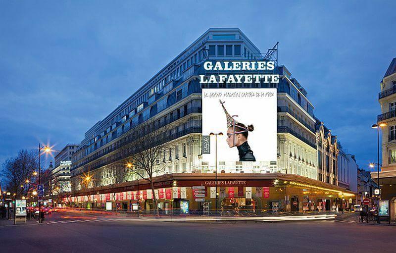 Galeries Laffayete em Paris