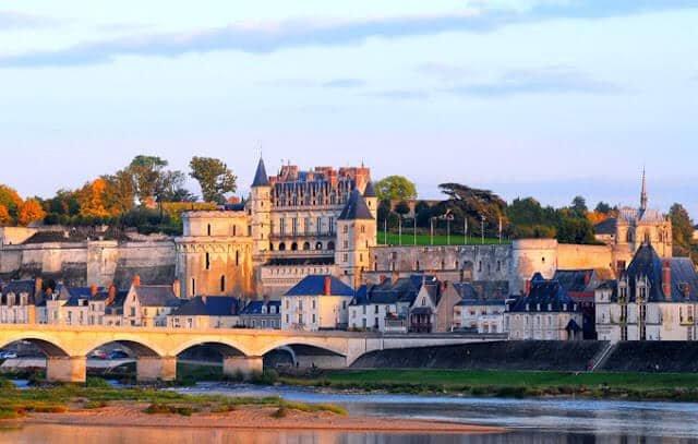 Castelo Amboise no Vale do Loire na França