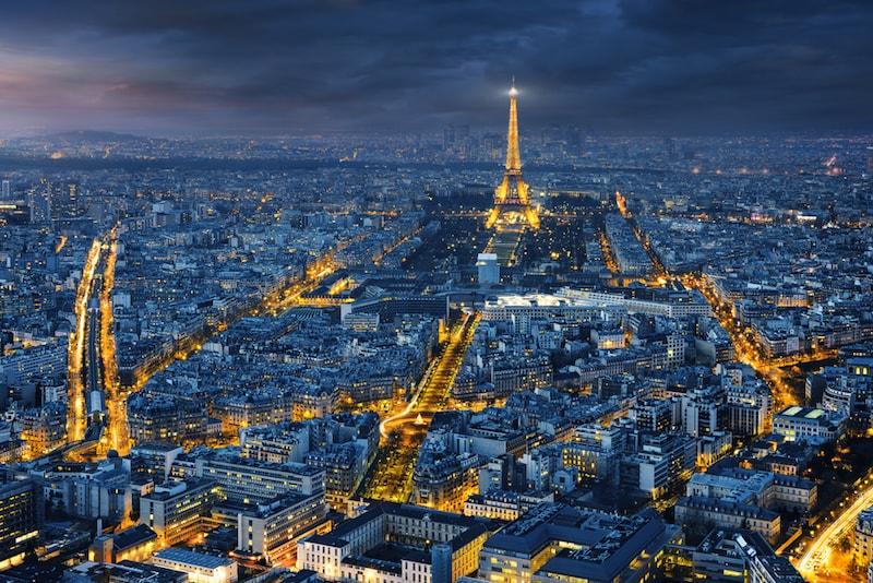 Vista da Torre Montparnasse em Paris