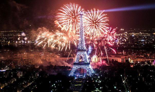 Ano Novo em Paris em 2018