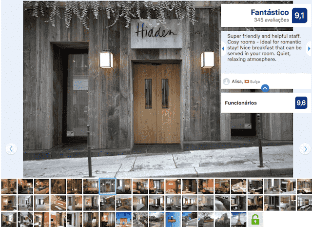 Hidden Hotel em Paris