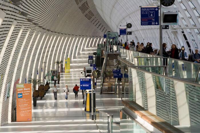 Estação de trem em Avignon