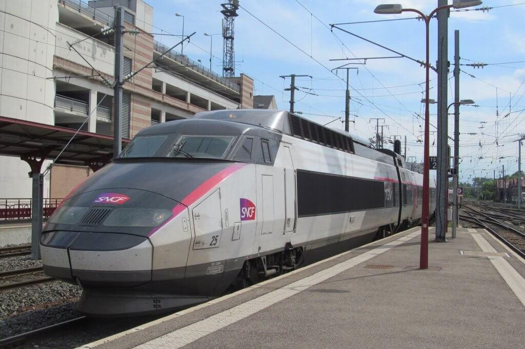Viagem de trem de Colmar a Paris