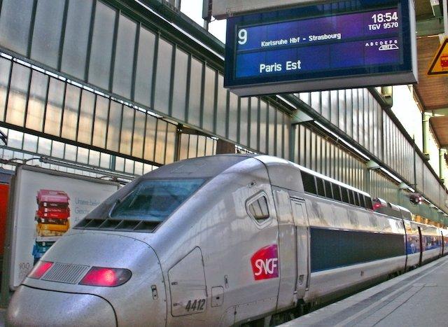 Viagem de trem de Paris a Stuttgart