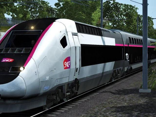 Viagem de trem de Aix a Paris