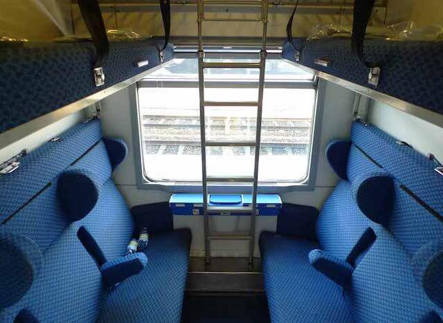 Viagem de trem de Paris a Veneza