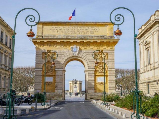Promenade de Peyrou em Montpellier