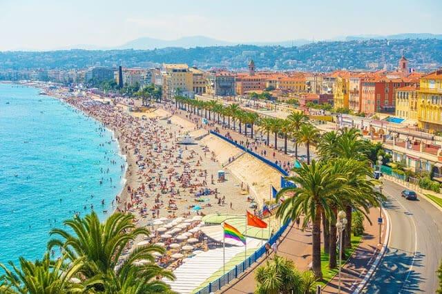 Praia em Nice