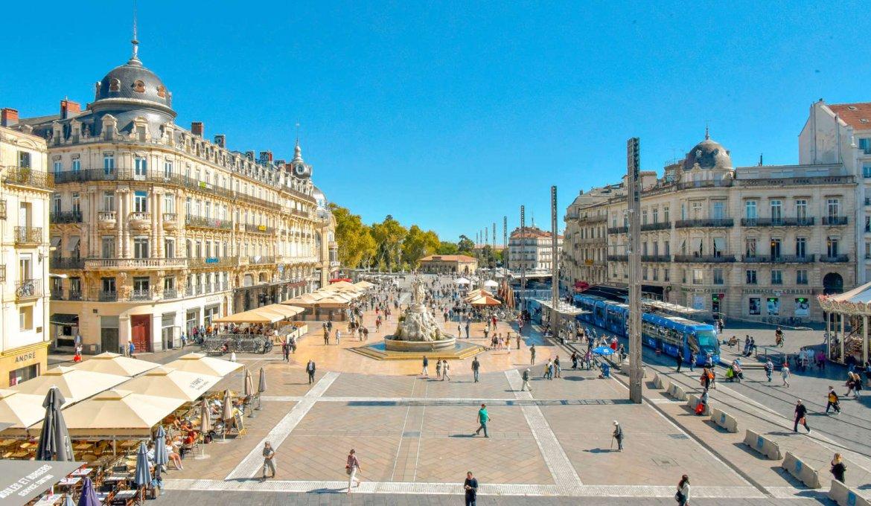 Área da Place de la comedie em Montpellier