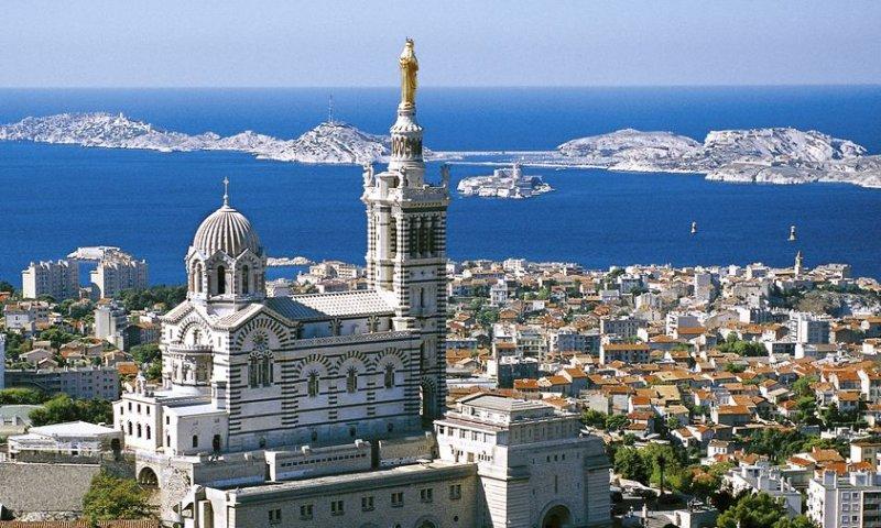 Vista da Notre Dame de la Garde em Marselha