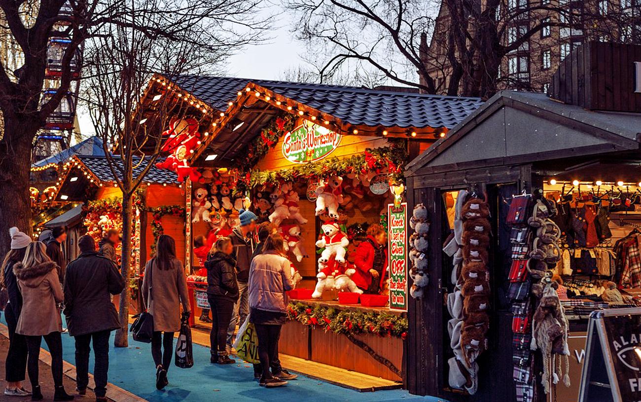 Mercado de Natal em Bordéus