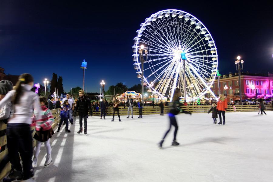 Pista de patinação em Nice