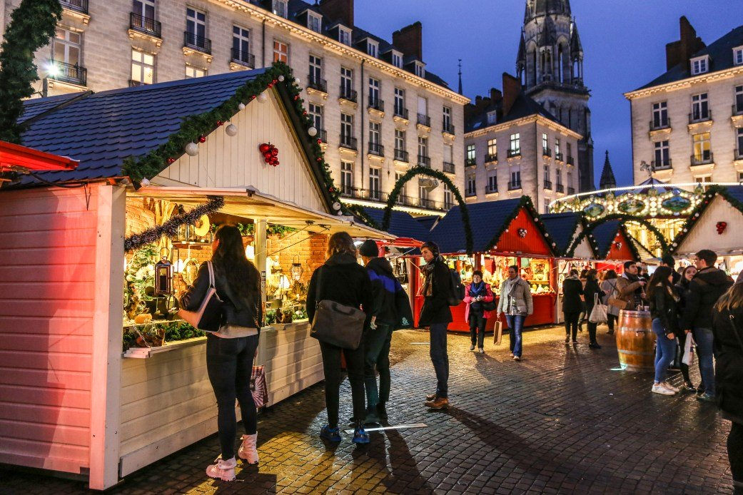 Mercado de Natal em Nantes