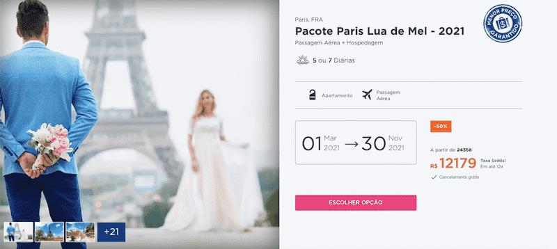 Pacote Hurb para Paris - Lua de Mel