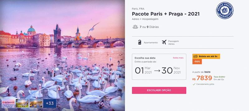 Pacote Hurb para Paris e Praga