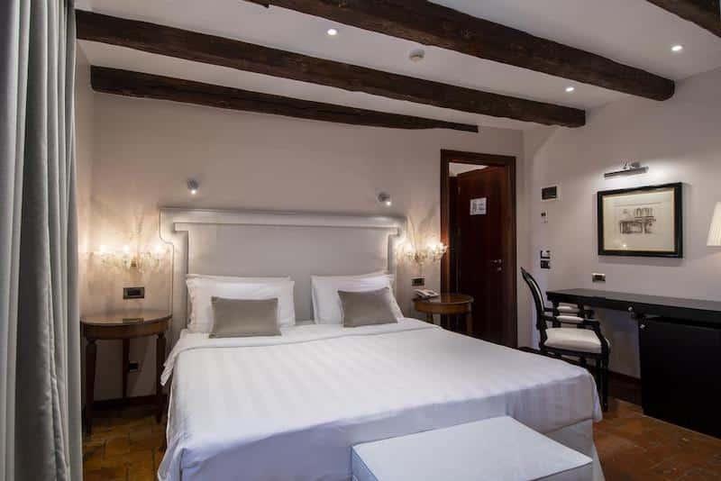 Quarto do Hotel Casa Verardo em Veneza