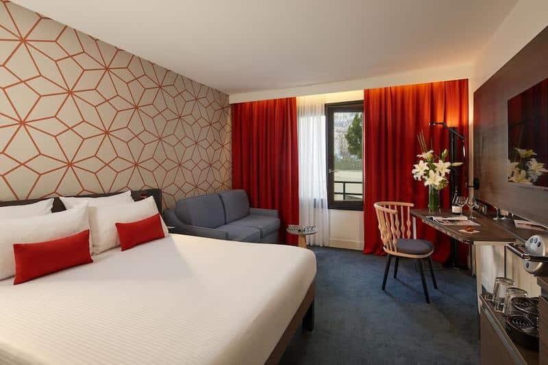 Quarto do hotel Novotel Paris Les Halles