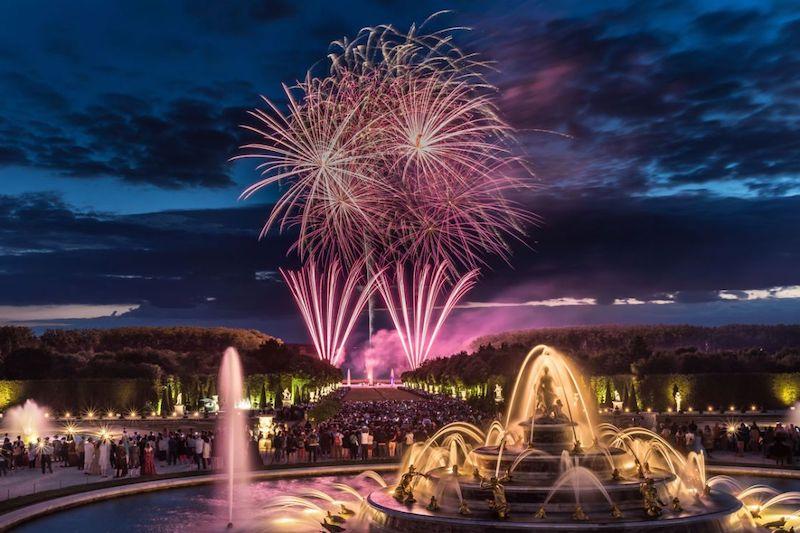 Show de luzes no Castelo de Versalhes