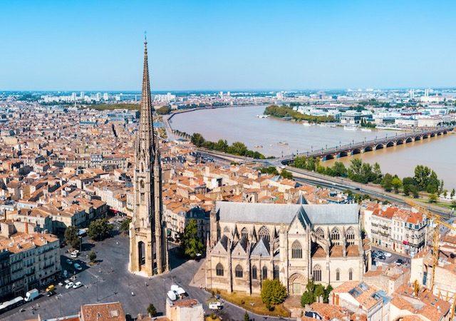 Vista da cidade de Bordéus