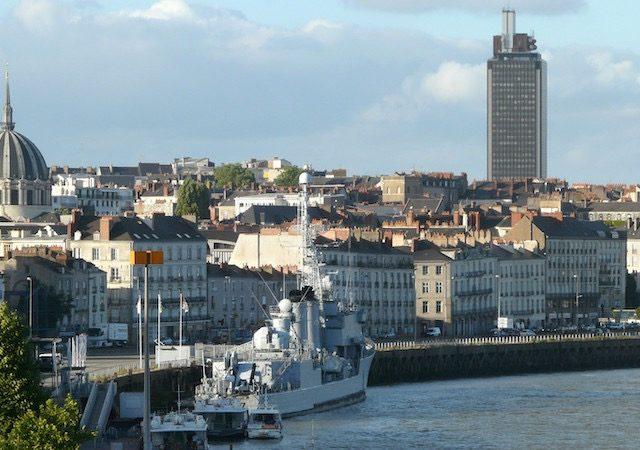 Vista da cidade de Nantes