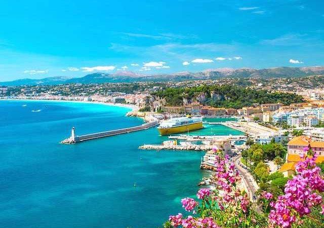 Vista de Nice na França