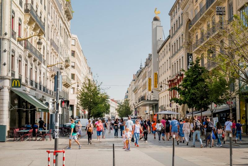 Rue de la République em Lyon