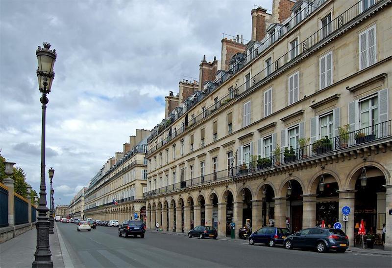 Rue de Rivoli em Paris