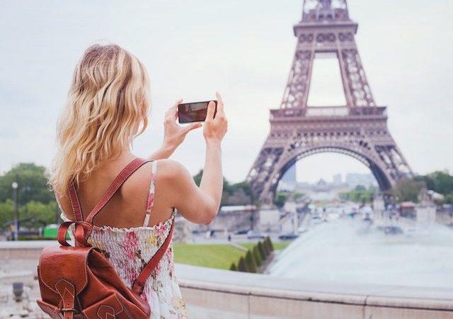 Tirando foto em Paris