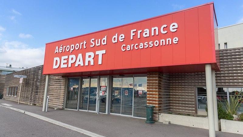 Entrada do aeroporto de Carcassonne