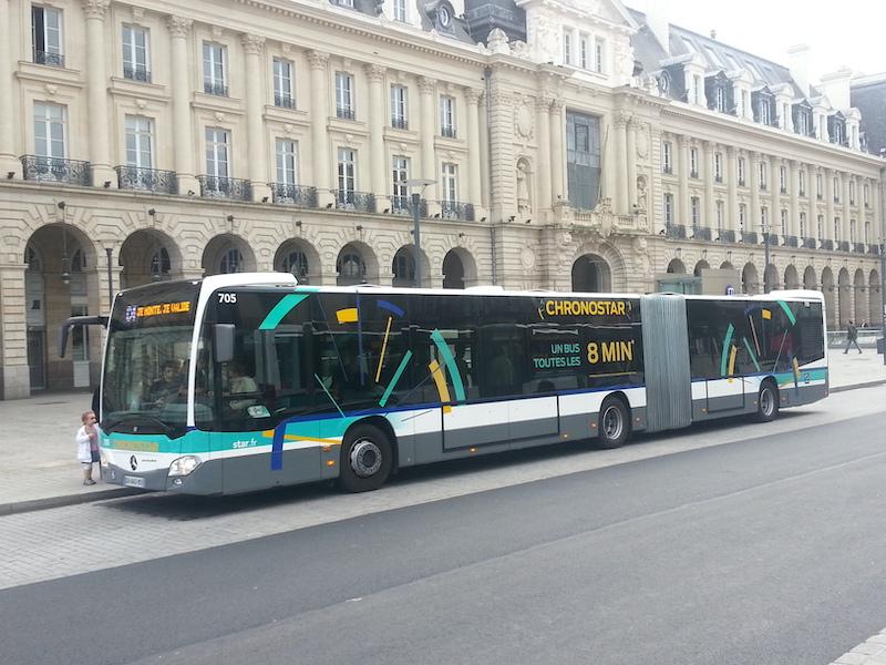 Ônibus em Rennes